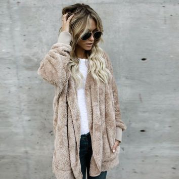 Women's Parka Furs Fashion Hooded Long Coat Lady Hoodies Outwear Cardigan Furs 2017 female Harajuku Style Furs#2