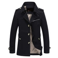Jaqueta Masculina Mens Trench Coat
