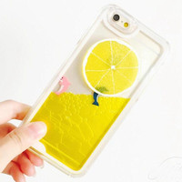 LEMON Swimming Water Iphone Cases for 6 s 6 plus