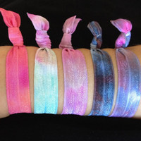 5 Mixed Tie Dye Elastic Hair Ties (and bracelets)