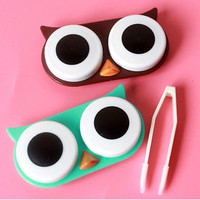 Contact Lens Case Cute Travel Storage Soak Kit Hard Holder Container Box Good