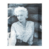 Marilyn Monroe Rustic Black and White Wall Canvas