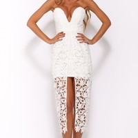False Heart Maxi Dress White
