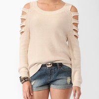 Cutout High-Low Sweater