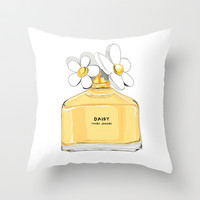 Favorite Perfume Throw Pillow by 23madisonstudio