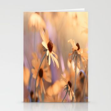 Suns star in the autumn garden Stationery Cards by Tanja Riedel