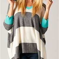 Love Stitch Striped Oversized Sweater IMP5536ST