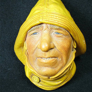 Vintage 1965 BOSSONS CHALKWARE HEAD, Life-Boatman made in England