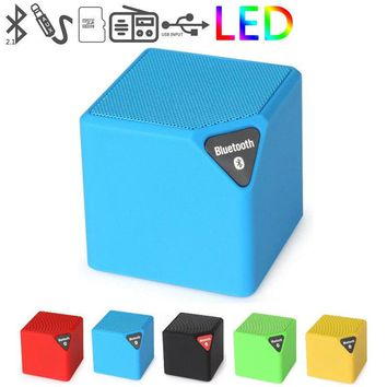 Candy Color Mini Protable Bluetooth Speaker Subwoofer Changing colors LED Light