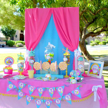 SWEET SHOP Candyland / Lalaloopsy Party / Candy Land/ Sweet Shoppe Party/ Lollipop/ Bubble Gum/ Girl Birthday - Complete - Krown Kreations