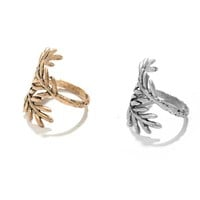 2017 High Quality Bohemia Vintage Tree Style Open Pine Ring Finger Ring