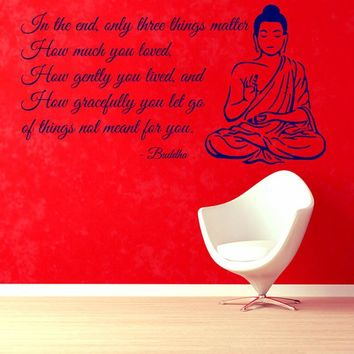 Buddha ~Wall Decals Quote Mural Bedroom Decorative Sticker