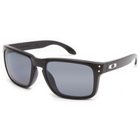 Oakley Holbrook Polarized Sunglasses Polished Black/Grey Polarized One Size For Men 22288618001