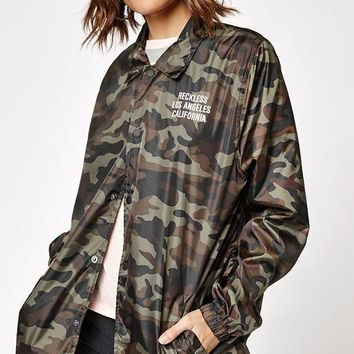 DCCKJH6 Young and Reckless In The Trenches Coach Jacket