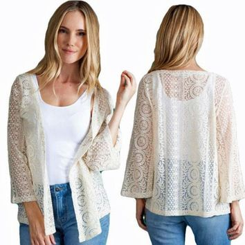 Thrill Of The Lace Jacket by Simply Noelle