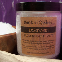 Lavender Bath Salts - Relax Your Mind & Let Go of Stress - Dead Sea Salt & Lavender Essential Oil