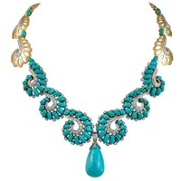 Boucheron Turquoise Diamond Gold Platinum Necklace
