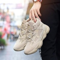Vintage dad sneakers kanye fashion west mesh light breathable men casual shoes men sneakers zapatos hombre Male Flat Shoes
