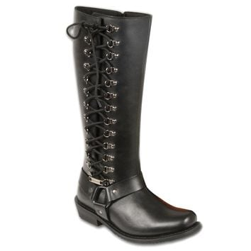 Women's Classic Harness Leather Boot with Full Lacing | Overstock.com Shopping - The Best Deals on Boots