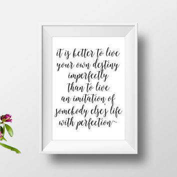 "Printable art""live your life""inspirational poster,motivational quotes,best words,bhagavad gita,gift idea,modern wall decor,home decor"