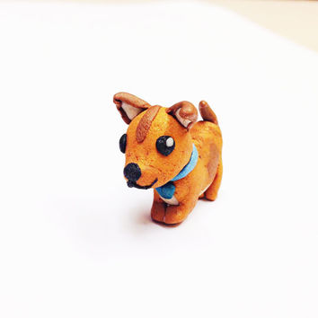 Custom pet sculpture, custom pet art, polymer clay sculpture, miniature dog statue, custom pet jewelry personalized pet jewelry