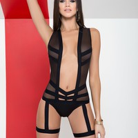 Bodysuit With Garter