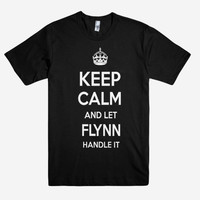 Keep Calm and let FLYNN Handle it Personalized Name T-Shirt ln