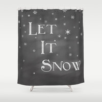 Let It Snow Shower Curtain by Dena Brender Photography