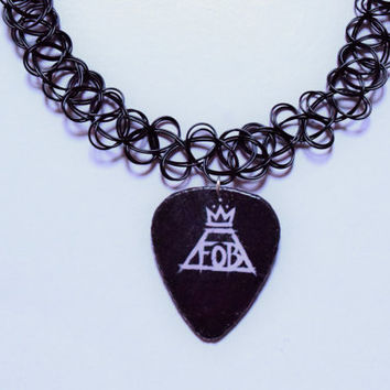 FOB Guitar Pick Tattoo Choker