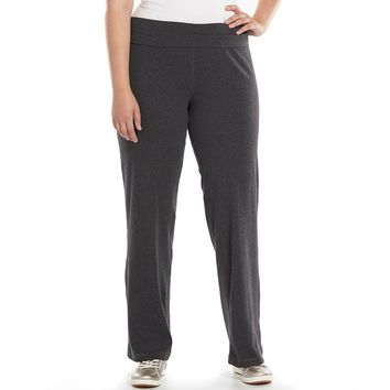 Tek Gear Roll-Waist Yoga Pants - Women's Plus Size, Size: