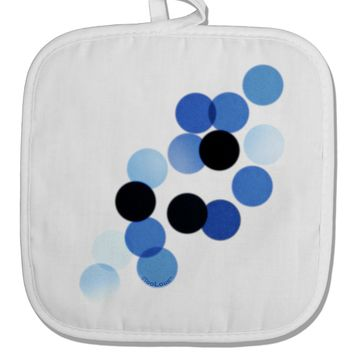Inverted Bokeh White Fabric Pot Holder Hot Pad by TooLoud
