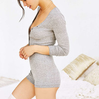 Out From Under Cozy Brushed Rib Romper - Urban Outfitters
