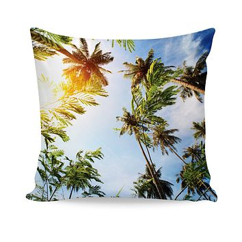 Palm Trees Couch Pillow