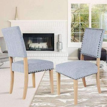 Set of 2pcs Fabric Dining Chairs