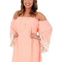 Summer Love Peach Dress | Monday Dress Boutique