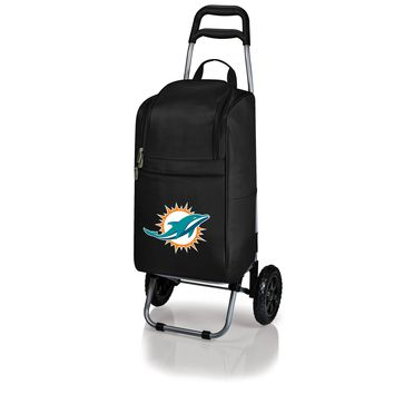 Miami Dolphins - Cart Cooler with Trolley (Black)