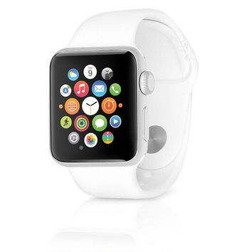 Apple Watch Series 2 38mm Silver Aluminum Case w/ Sport Band – White MNNW2LL/A