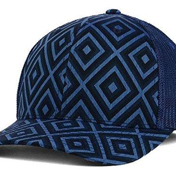 Kangol New Tribal Mesh Navy Flex Fit Hat Cap Large/Xlarge L/XL $35