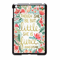 Red Flowers Though She Be But Little She Is iPad Mini Case