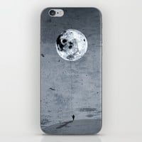 Comet moon iPhone & iPod Skin by Tony Vazquez