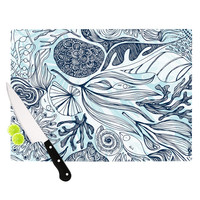 "Anchobee ""Marina"" Blue Aqua Cutting Board"