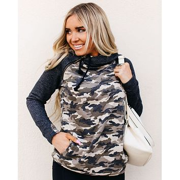 Ampersand DoubleHood™ Sweatshirt - Camo Accent