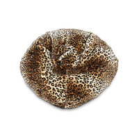 Michael Anthony Furniture Faux Fur Bean Bag Leopard