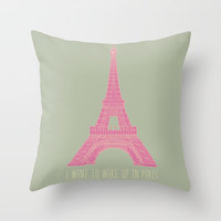 OUI OUI Throw Pillow by Bianca Green | Society6