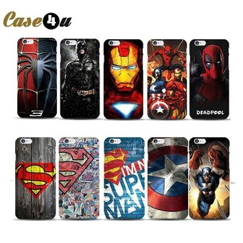 Deadpool Dead pool Taco Superhero Collection  Marvel Case for capinhas iphone 7 8 Plus Hard Cover Captain America Shield Spiderman Superman Case AT_70_6