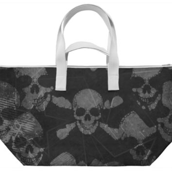Black Skull Grunge Weekend Bag