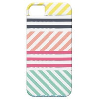 Modern Colorful Girly Stripes iPhone 5 Covers from Zazzle.com
