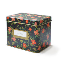 Rifle Paper Co. - Midnight Garden Tin Recipe Box