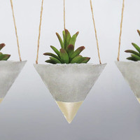 Air Planter, Concrete Planter, Mini Planter, Succulent Planter, Hanging Planter, Geometric Planter, Succulent Gift, Succulent Pot - Set of 3