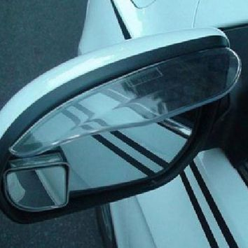 2Pcs Universal Car Rear View Mirror Flexible Anti Rain Guard Sun Shade Weatherstrip Car Accessory